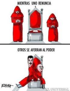 La contundente caricatura de Rayma sobre la renuncia del Papa