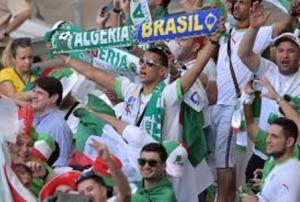 Fanáticos argelinos se sobrepasan en celebración mundialista