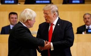Trump se mostró esperanzado de que Boris Johnson se recuperará del coronavirus