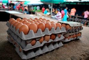 El cartón de huevo supera los 800 mil bolívares en Lara