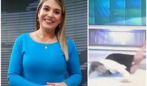 Periodista de VTV respondió las críticas tras su caída en vivo, pero te hará reír aún más con su mensaje