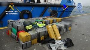 España y Portugal incautan 3.300 kilos de cocaína procedente de Sudamérica