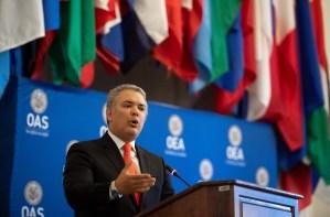 Duque en la OEA: Latinoamérica está viviendo la peor crisis humanitaria por culpa de la dictadura de Maduro