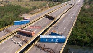 El mensaje de la guarimba chavista en el puente Tienditas (foto)