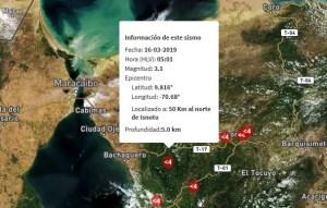 Sismo de magnitud 3.1 se registró en Isnotú #16Mar