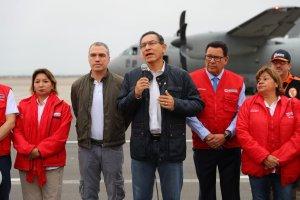 Presidente Vizcarra y ministros monitorean las zonas afectadas en Perú