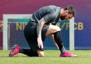 Messi vuelve a entrenarse y se apunta al estreno del Barça en Champions (FOTOS)