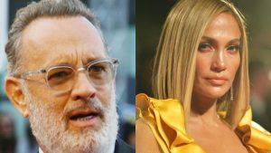 ¡Escándalo! Tom Hanks se limpió la mejilla luego de saludar a Jennifer Lopez (VIDEO)