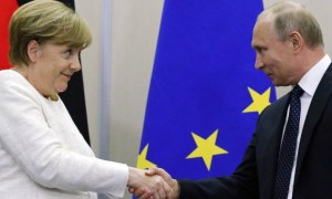 Putin y Merkel coinciden en apoyar el arreglo político en Siria y Ucrania