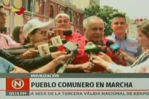 A Diosdado se le acabaron los viáticos y se llegó a la concentración de las comunas en Caracas (Video)