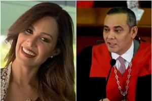 """""""Cadaver con pellejos"""": Destruyeron a la esposa de Maikel Moreno en esta foto"""