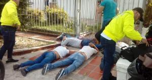 EN VIDEO: Capturan en flagrancia a cuatro robacasas venezolanos en Barranquilla