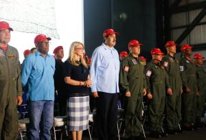 Maduro fue a transmitirle su paranoia a la cúpula de la Aviación venezolana