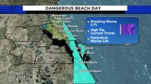 Un sábado agradable pero peligroso en las playas de Miami