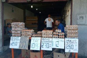 Precio de los huevos sube 252% de diciembre de 2019 a enero de 2020 en Barquisimeto