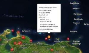 Sismo de Magnitud  4.1 en la Isla la Tortuga