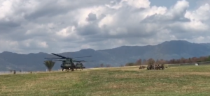 EN VIDEO: Así llegaron los helicópteros colombianos para realizar los ejercicios militares junto a EEUU