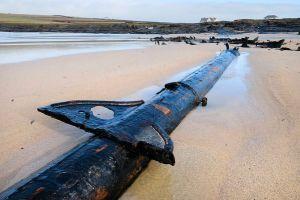 Restos de un naufragio alemán de la Primera Guerra Mundial emergen en una playa británica (Fotos)