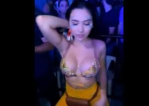Aida Victoria Merlano amenazó a un cantante casado que le coqueteó (+Video)