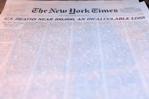Cómo se hizo la portada repleta de nombres del The New York Times