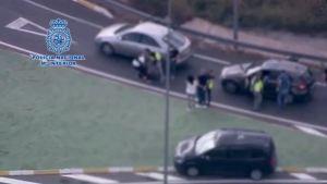 EN VIDEO: Momento en el que operación antidroga da con dos traficantes en España