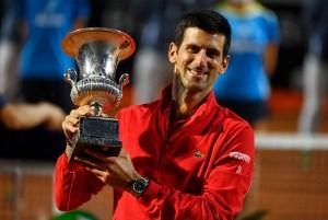 Novak Djokovic logra su quinto título en ATP de Roma tras derrotar en la final al argentino Schwartzman