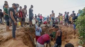 Vecinos en Bolívar rompieron una tubería para recoger agua tras sufrir 40 días sin servicio