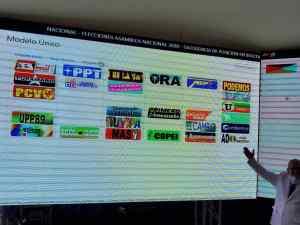 La Foto: Así luce el tarjetón que incluye a partidos que participarán en la farsa electoral de Maduro