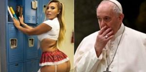 """Vaticano investiga el """"Me Gusta"""" de la cuenta del papa Francisco en Instagram a una modelo sexy"""