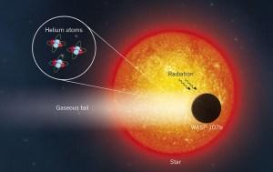 WASP-107b, un exoplaneta mucho más etéreo de lo imaginado