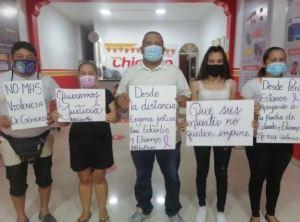 Venezolanos en Perú exigieron justicia ante los feminicidios ocurridos en Turén