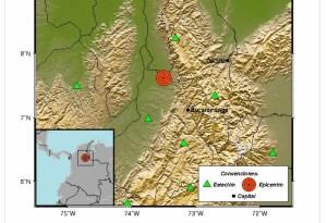 Se registró sismo de magnitud 4.2 en Colombia este #27Feb