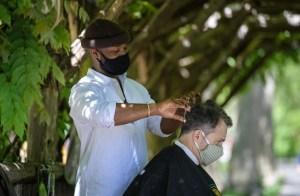 El barbero de Central Park, la nueva atracción de Nueva York (Fotos)