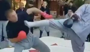 La impresionante patada de un monje Shaolin a un ex luchador de UFC que hace furor en las redes (VIDEO)