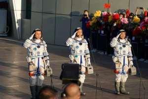 En IMÁGENES: Así fue el exitoso despegue de astronautas chinos a su estación espacial