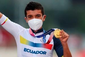 El ciclista Richard Carapaz conquistó el segundo oro olímpico en la historia de Ecuador