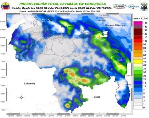 Lluvias, actividad eléctrica y fuertes marejadas: El pronóstico de Inameh para este #21Oct
